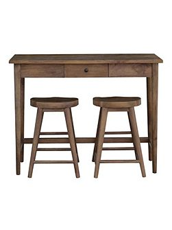 Oliver bar table & 2 stools