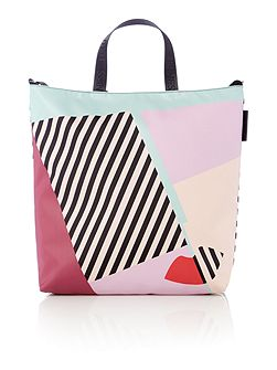 Lucy multi-coloured large anna doll face tote bag