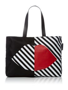 Lulu Guinness 50:50 Larysa multi-coloured large tote bag
