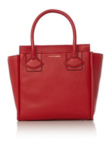 Lulu Guinness Lyra red small lip applique tote bag
