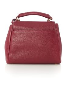Lulu Guinness Rita burgundy small shoulder bag with lip charm