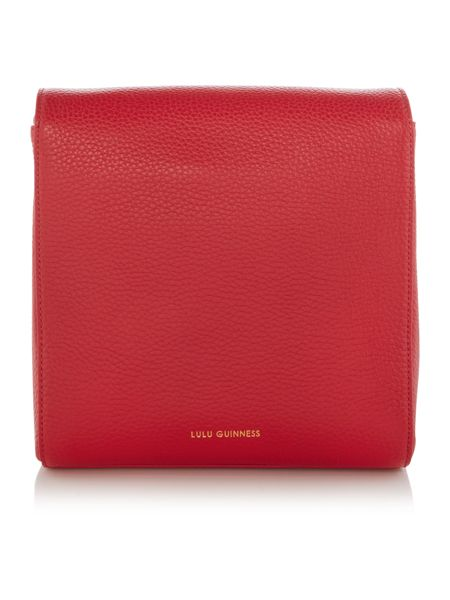 Lulu Guinness Gabrielle small red shoulder bag
