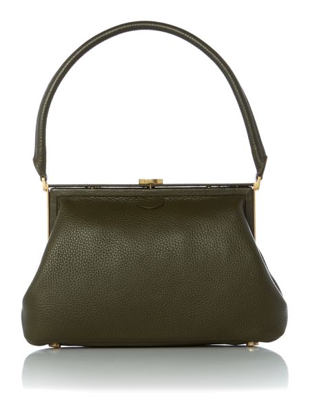 Lulu Guinness Tabitha green medium shoulder bag
