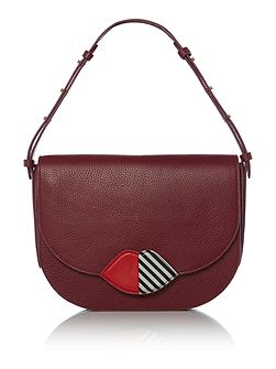 Rosie 50:50 burgundy medium shoulder bag