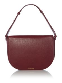 Lulu Guinness Rosie 50:50 burgundy medium shoulder bag