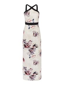 Little Mistress Sleeveless Cross Over Maxi Dress