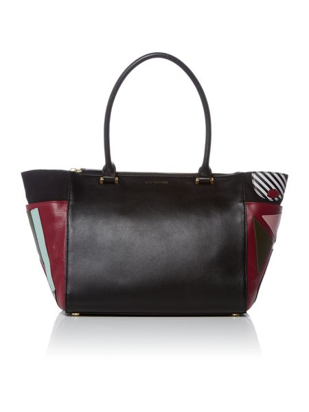 Lulu Guinness Becca black large pop out grab bag
