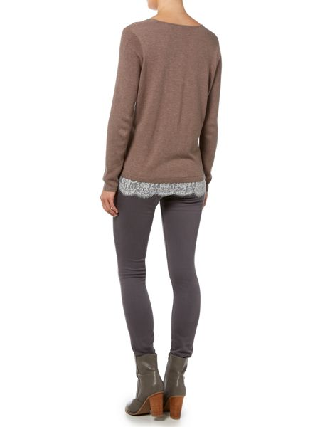 Gray & Willow Swada Lace DetailKknitted Jumper