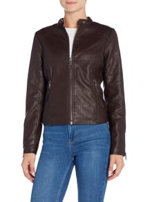 Andrew Marc Pebbled PU Biker Jacket