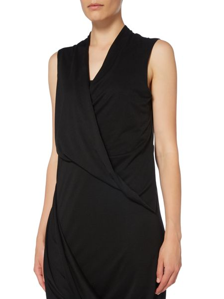 Label Lab Asymmetric ruched jersey dress