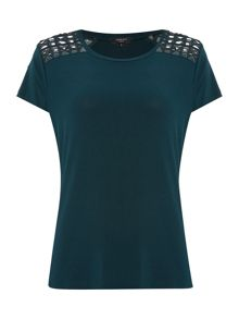 Therapy Aggie Cut Out Shoulder Top