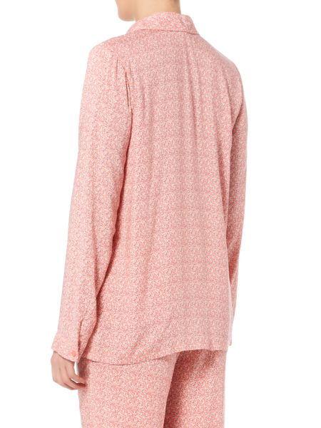 Calvin Klein Long Sleeve interlaving dot pyjama top