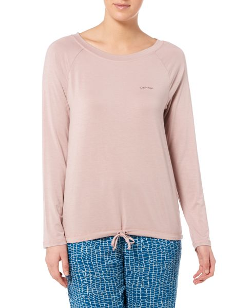 Calvin Klein Long sleeve top with drawstring hem