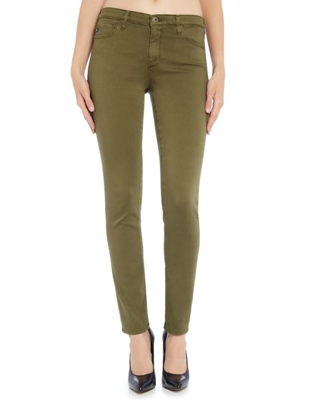AG Jeans Prima cigarette jean in Sulfur Olive Night