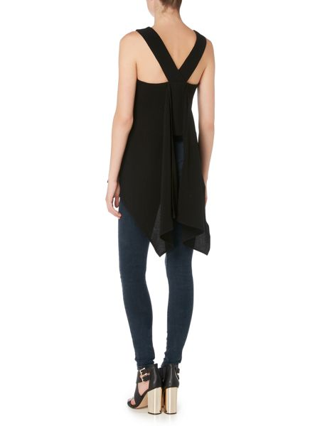 Label Lab Sleeveless waterfall back top