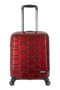 Antler Prism burgundy 4 wheel hard cabin suitcase