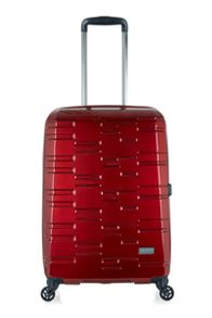 Antler Prism burgundy 4 wheel hard medium suitcase