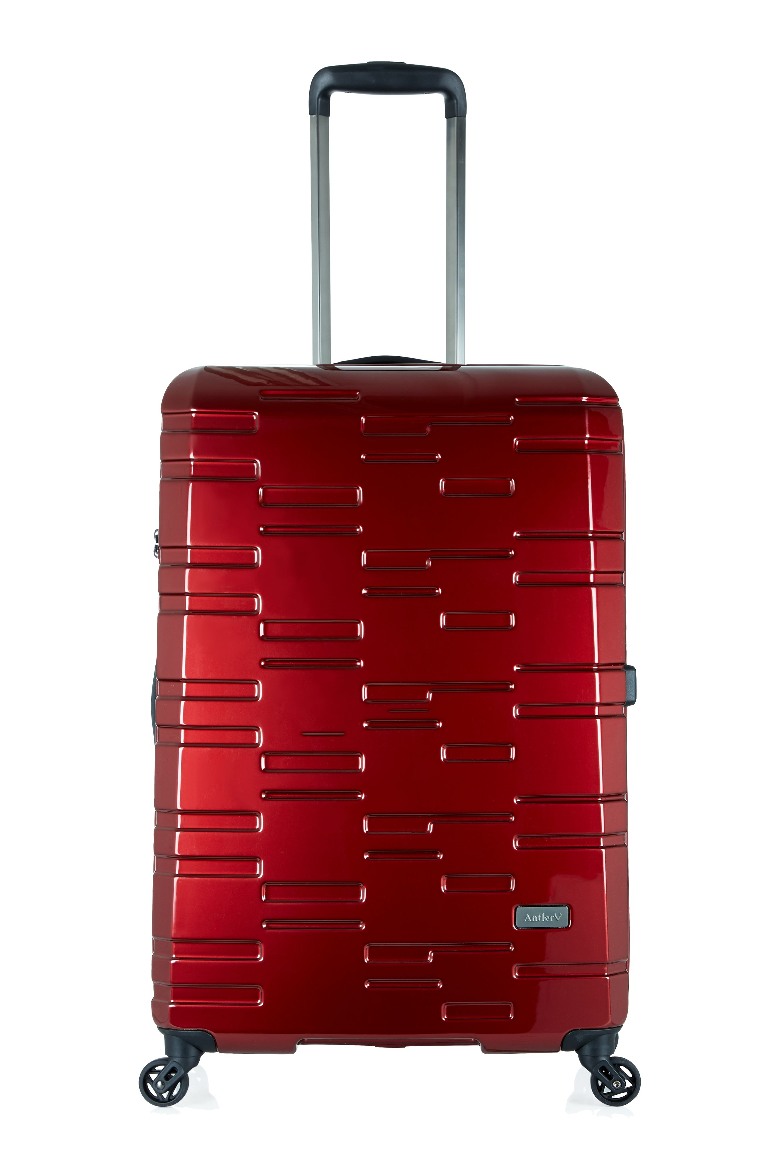 Antler Prism burgundy 4 wheel hard large suitcase Burgundy