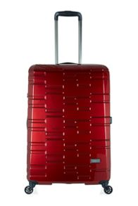 Antler Prism burgundy 4 wheel hard large suitcase