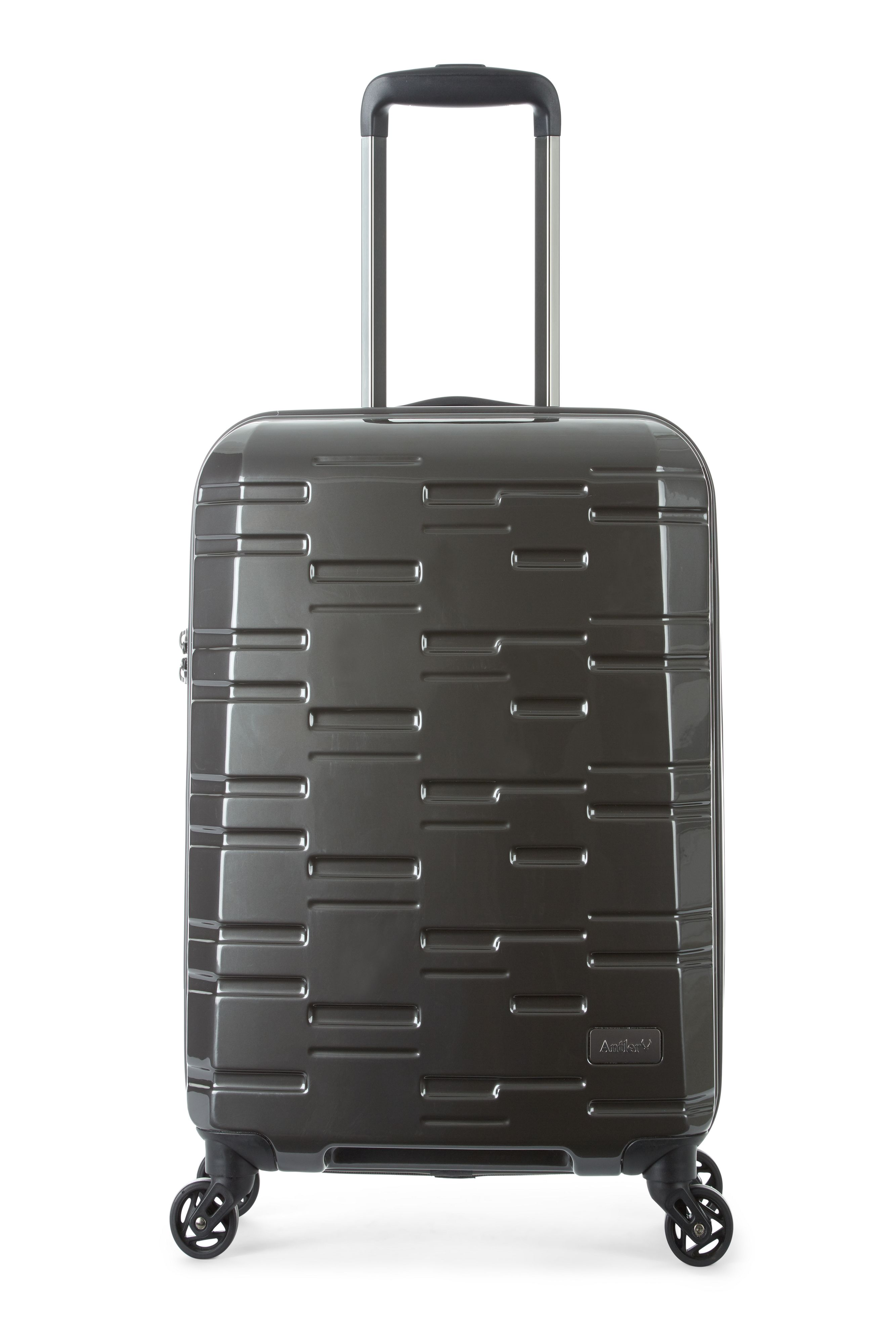Antler Prism charcoal 4 wheel hard cabin suitcase Charcoal