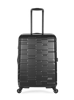 Prism charcoal 4 wheel hard medium suitcase