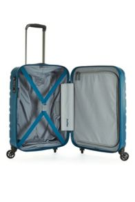 Antler Prism embossed teal 4 wheel hard cabin suitcase
