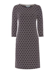 Dickins & Jones Jane Jersey Jacquard Shift Dress