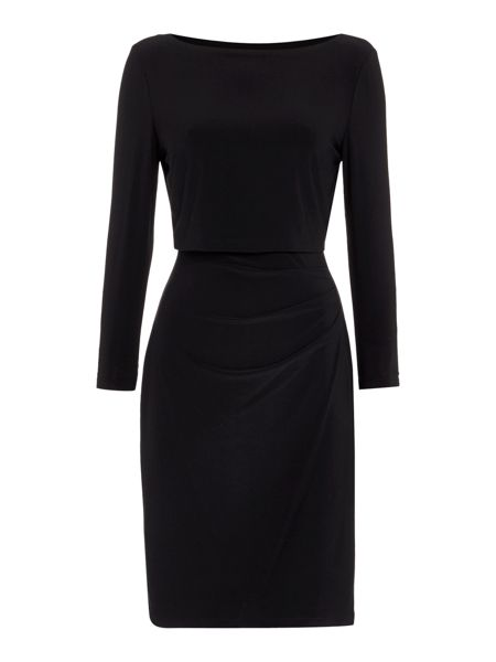 Lauren Ralph Lauren Lenari 3/4 Sleeve Dress