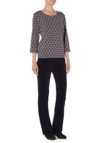 Dickins & Jones Bridget Boxy Jacquard Jersey Top