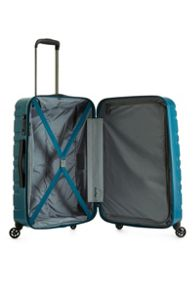 Antler Prism embossed teal 4 wheel hard medium suitcase