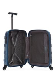 Antler Atom blue 4 wheel hard cabin suitcase