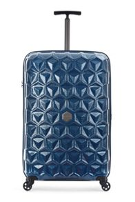 Antler Atom blue 4 wheel hard large suitcase