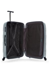 Antler Atom silver 4 wheel hard large suitcase