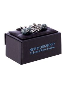 New & Lingwood Crystal Octopus Cufflink