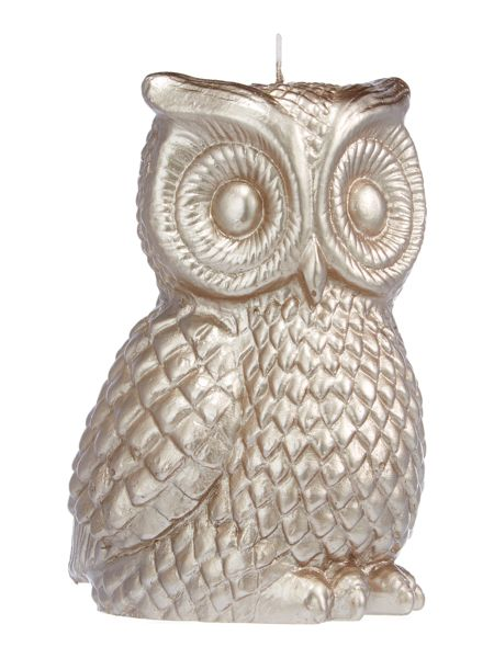Linea Silver owl candle
