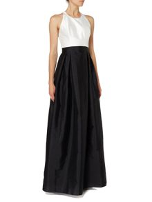 Adrianna Papell Colour block fit anf flare midi dress