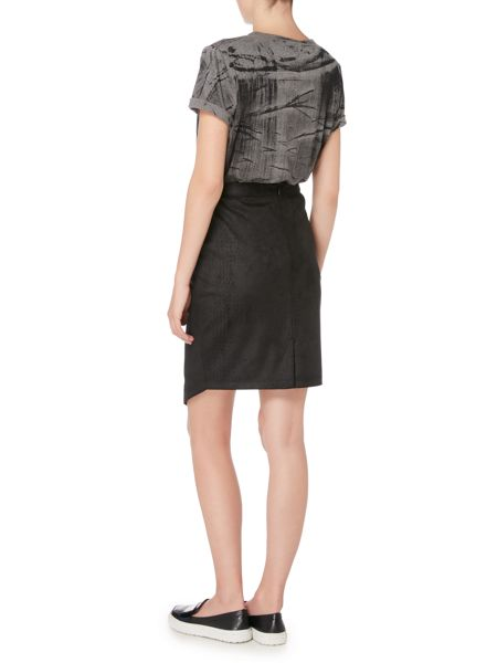 Label Lab Faux suede snake print skirt