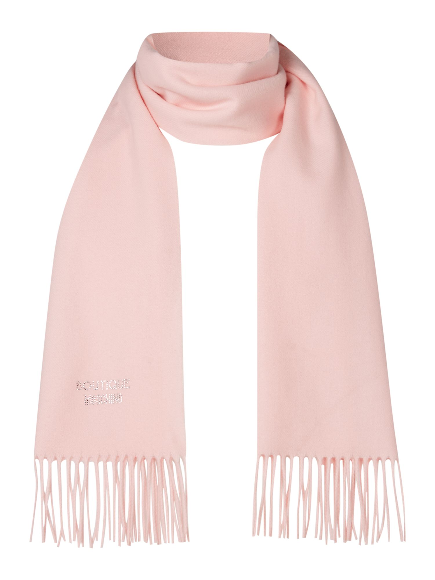 Boutique Moschino Boutique Moschino Diamante logo scarf, Light Pink