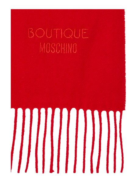 Boutique Moschino Logo wool scard