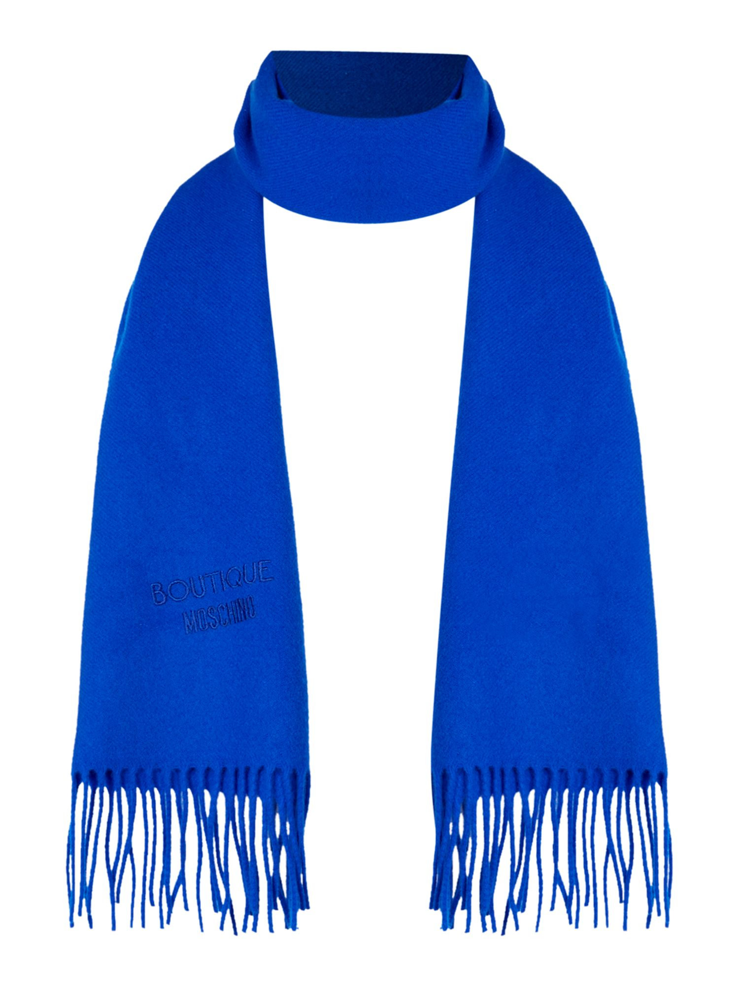 Boutique Moschino Boutique Moschino Logo wool scard, Cobalt