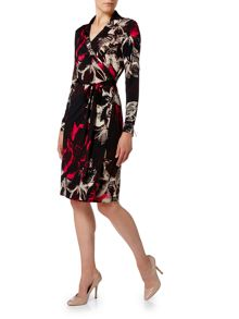 Linea Floral print wrap dress