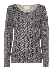 Linea Herringbone diamante jumper