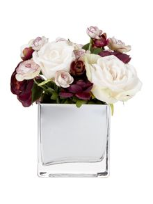 Linea Rose & Ranunculus in Mirror Cube