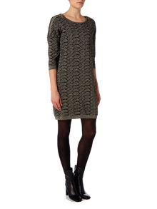 Biba Knitted zip detail jumper dress