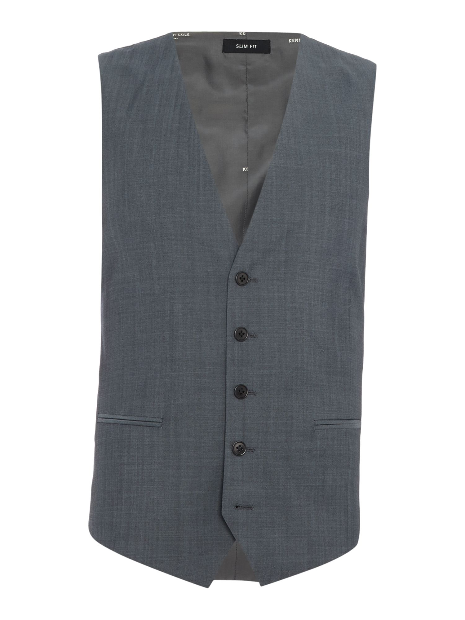 Men's Kenneth Cole Byram travel suit waistcoat, Grey
