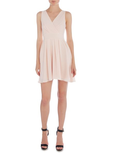 Wal-G Sleeveless V Neck Fit and Flare Dress