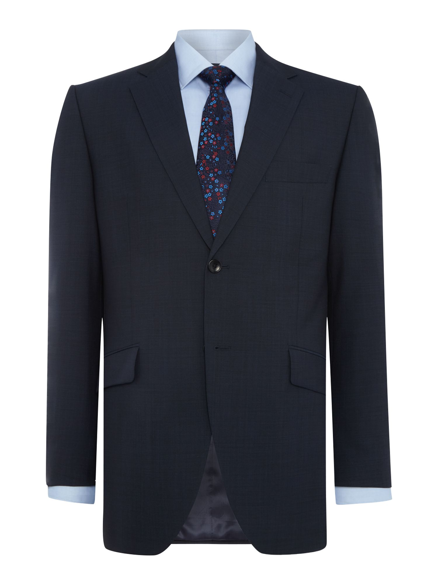 Howick Tailored Men's Howick Tailored Delaware SB2 suit jacket with notch lapel, Navy
