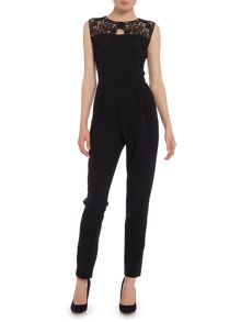 Wal-G Sleevless Embroidered Top Jumpsuit
