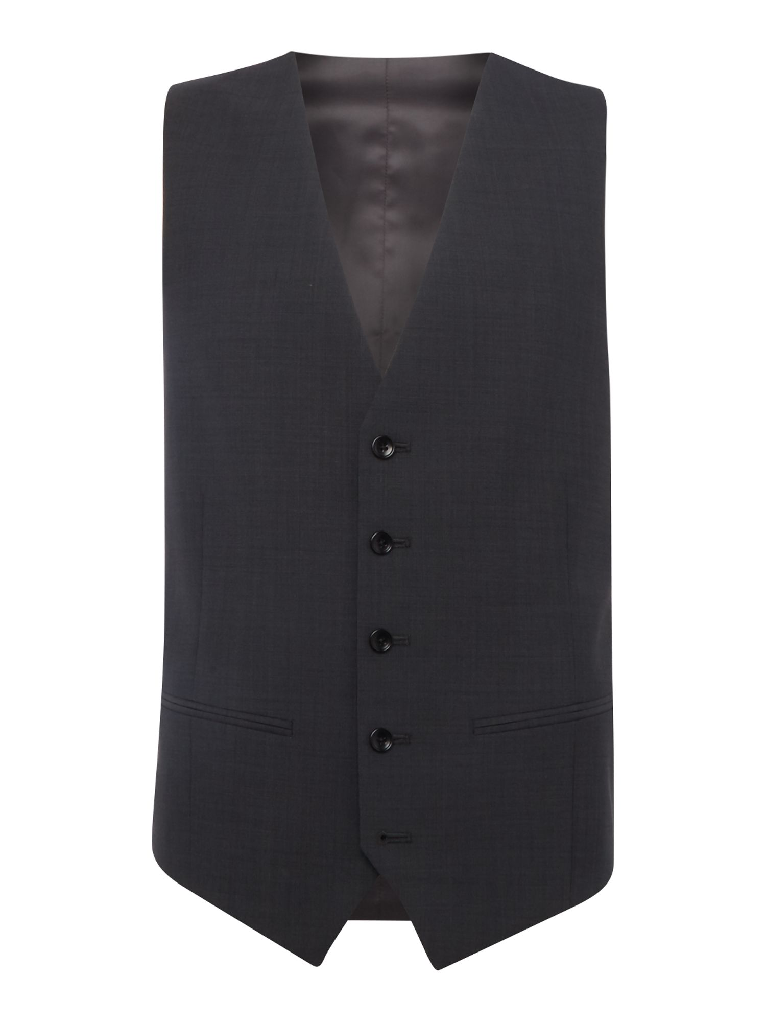 Howick Tailored Men's Howick Tailored Delaware suit waistcoat, Charcoal