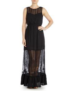 Vero Moda Savanna sleeveless sheer maxi